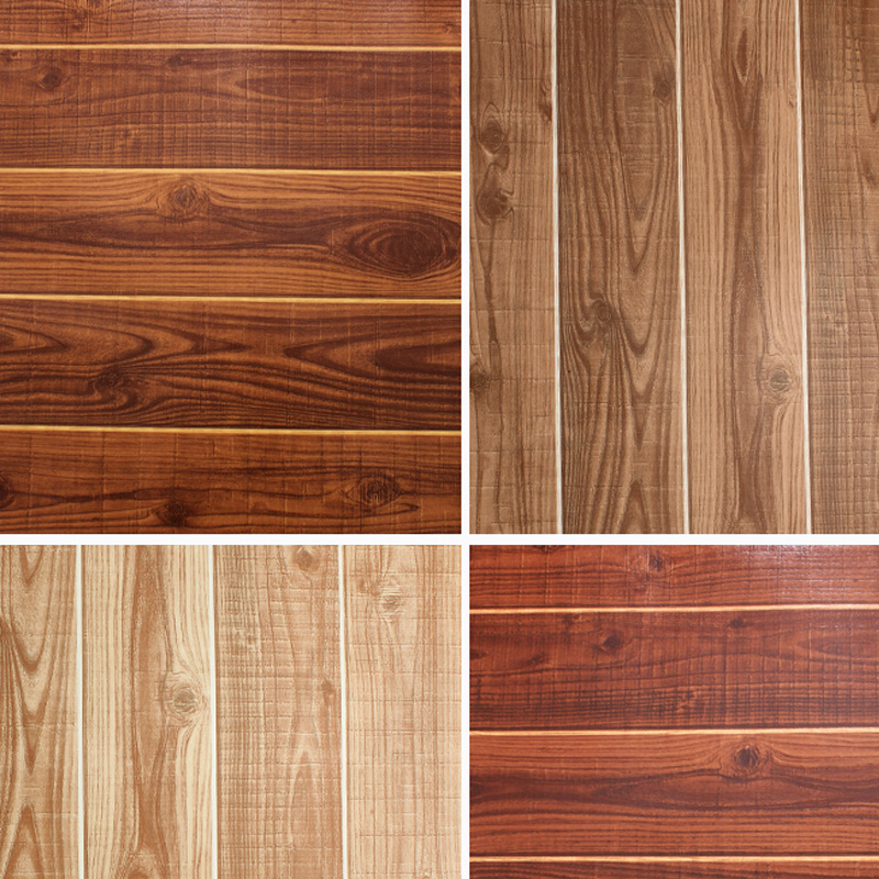 Floor wood grain wallpaper new chinese style classical the plank wallpaper brief tv background wallpaper