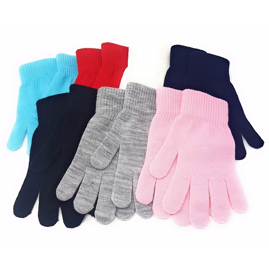 WOMENS LADIES SOFT MAGIC STRETCH GLOVES 5 COLOURS