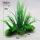 Aquarium decoration and ornament fish tank simulation green plastic plant flowers Decor