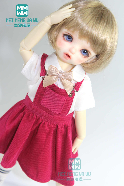 מתאים 27 cm-30 cm 1/6 BJD YOSD בובת בגדי אופנה רצועת שמלה ורוד, רוז, חאקי, אפור
