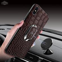 LANGSIDI Full Grain Leather case For Xiaomi Mi 9 8SE 6 6X Phone Cases MI 8 Cover Mix2s 2019 New Men