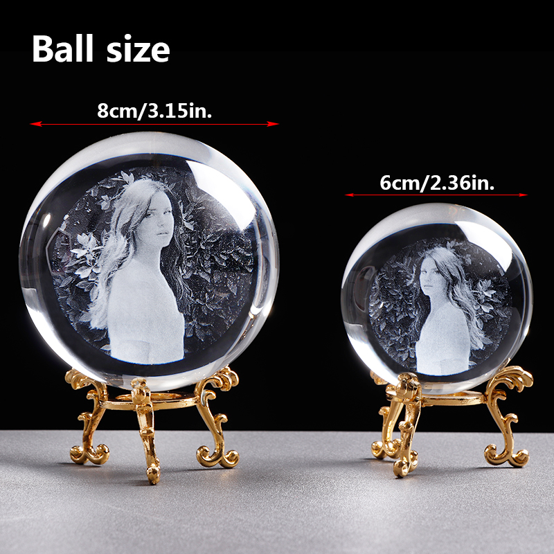 Personalized Crystal Photo Ball Customized Picture Sphere Globe Home Decor Accessories Baby Photo Gift for Girlfriend 3