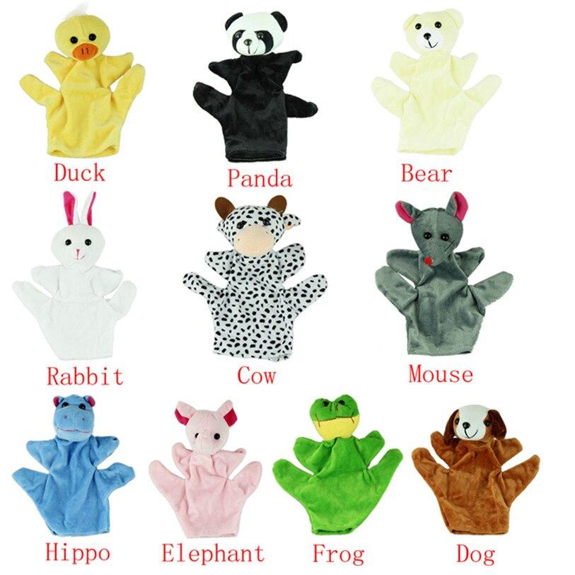 ГОРЯЧИЕ Детские Ребенка Зоопарк на Ферме Руки Перчатки Кукольный Finger Мешок Плюшевые Игрушки АВГ 31