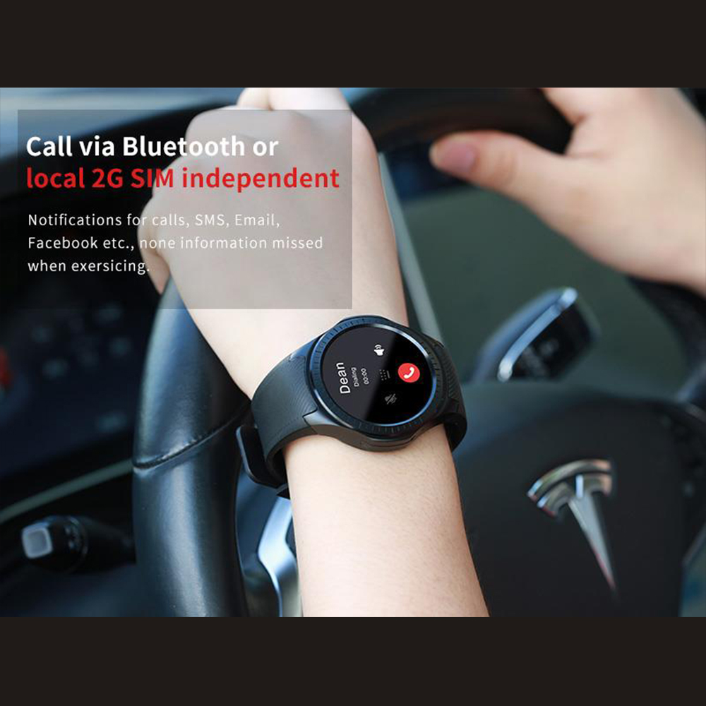Makibes G05 Pro GPS Bluetooth MTK2503 fréquence cardiaque tensiomètre réponse appel caméra multi-mode sport montre intelligente - 4