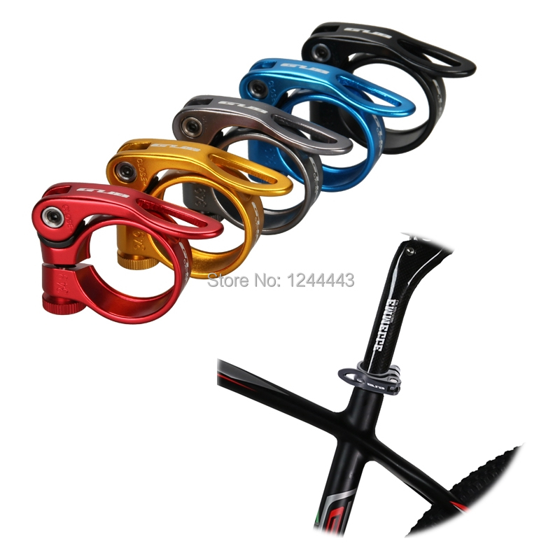 GUB CX-49 34.9mm Aluminum Alloy Bicycle Seat Post Clamp MTB Road/Mountain Bikes Cycling Quick Release Seatpost Clamps