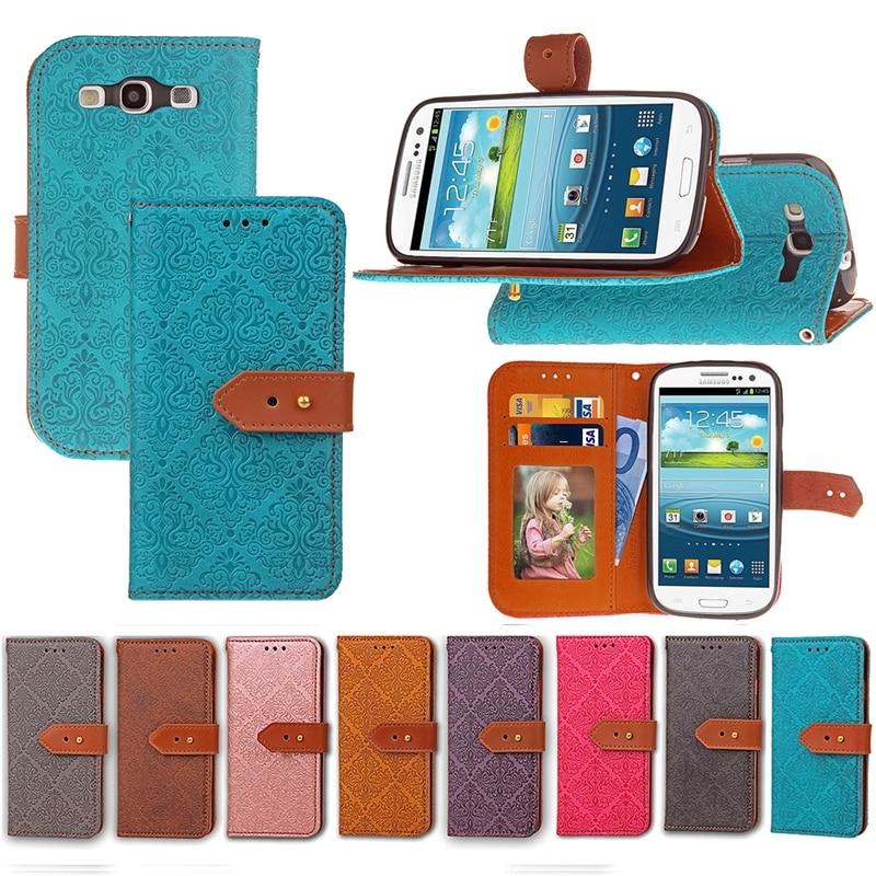 c6999c1a435 Funda de cuero Retro Para samsung galaxy s3 i9300 siii neo cartera estilo Flip  teléfono bolsa cubierta para coque samsung galaxy s3 Carcasas ETUI en Casos  ...