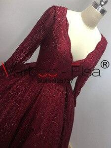Image 2 - VARBOO_ELSA Dubai Árabe Vestido de Noite Elegante vestido de Baile vermelho 2018 Brilhante Lantejoulas Longo Prom Dress Robe De Soirée 2018 árabe vestido