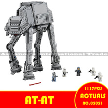 Lepin 05051 Star War Series Siły Awaken The AT-AT Transpotation Armored Robot 75054 Klocki Klocki Edukacyjne Zabawki