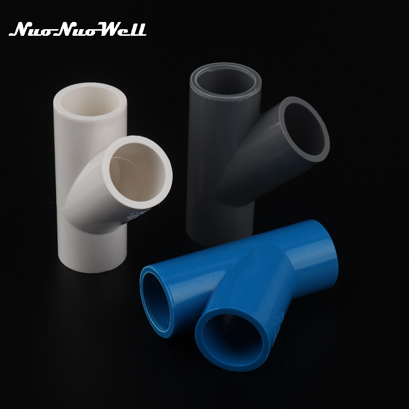1pc Pvc Inner Diameter 20mm 3 Way Connector Water Pipe Y Adapter