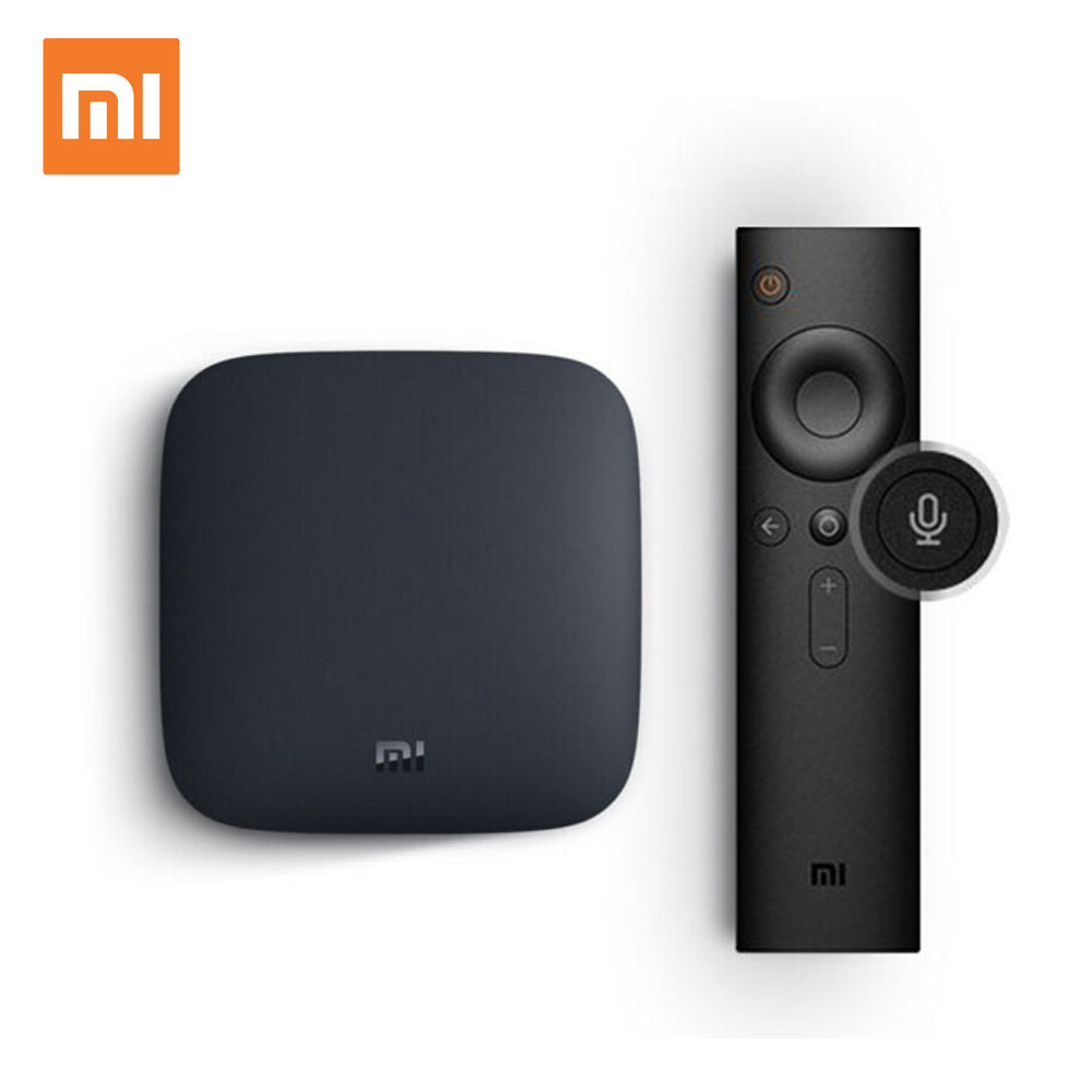 Оригинальный Xiaomi Mi ТВ коробка 3 Smart К 4 к ультра Android 6,0 г 2 г/8 г фильм wifi Google Cast Netflix Red Bull медиаплеер приставка