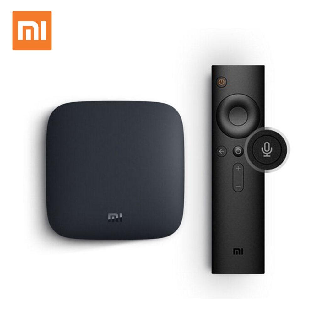 Original Xiao mi mi TV BOX 3 Smart 4 karat Ultra Android 6.0 2g/8g Film WIFI Google cast Netflix Red Bull Media Player Set-top Box