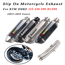 For KTM DUKE 125 250 390 RC390 2017-2019 Motorcycle Exhaust System Muffler Escape Middle Link Pipe Modified Connection Slip on