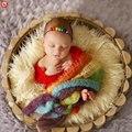 2017 bebé recién nacido fotografía nacidos envolturas mohair arco iris hecho a mano apoyos de la fotografía accesorios para bebés boy girl manta