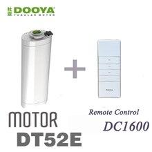 Горячая Dooya 45 Вт Электрический мотор для штор DT52E с пультом дистанционного управления для умного дома