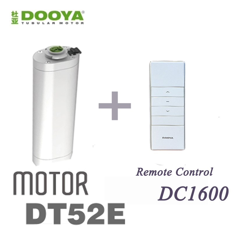 2016 Hot Sale Original Dooya 45W Electric Curtain Motor DT52E With Remote Controller For Smart Home ...