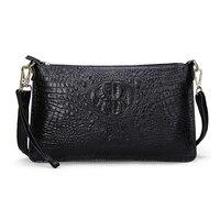Genuine Leather Women Bag Fashion Women Handbag Alligator Embossed Crocodile Women Messenger Bags Clutch HB 136