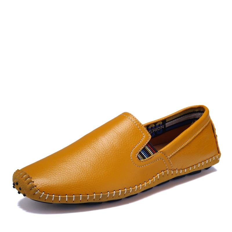 marron blanc Mocassins jaune Solide Printemps Noir Hommes Conduite Chaussures Décontracté Autumm De Plat bleu Sans Concise Pour Mode Lacets TqxSnwAaE