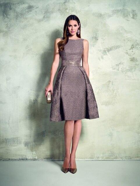 fef561bc6c Corto elegante A-Line vestidos fiesta 2015 Vestido De fiesta apliques  Sashes por encargo Vintage