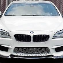V стиль Реальные углеродного волокна передний спойлер Подходит для BMW 6-series F06 F12 F13 M6 бампер 2012 до B117