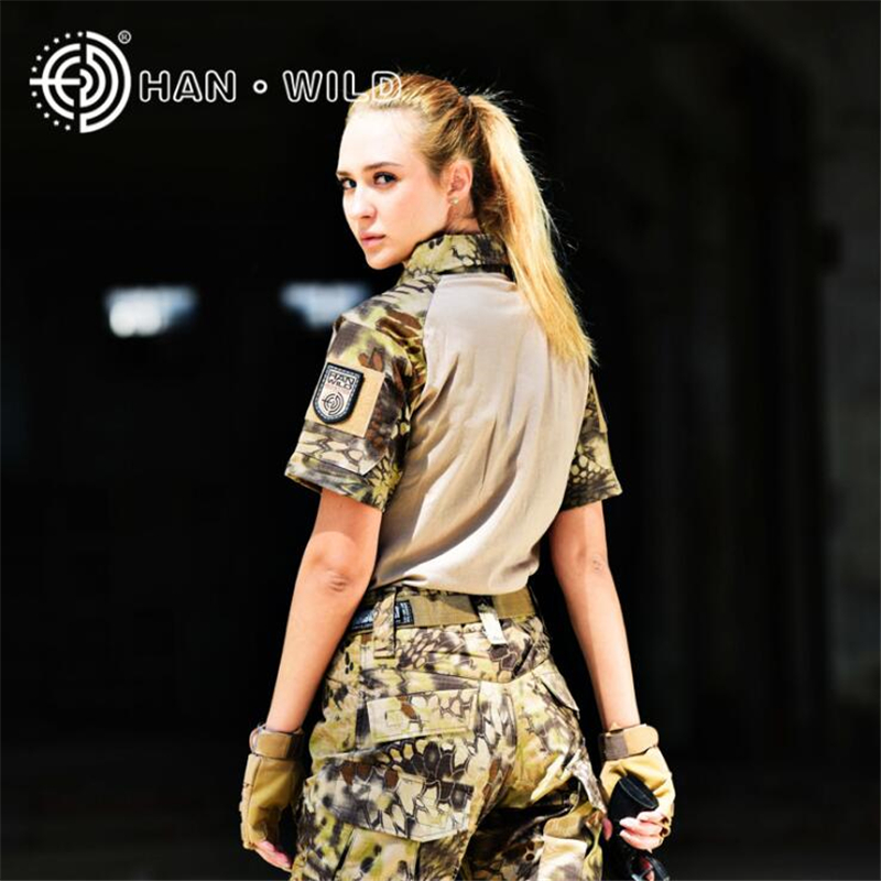 Womens Sports Outdoor T-shirt Unisex Short Sleeve Tactical Military Army Shirts Uniform Hiking Spring Autumn Breathable Shirt