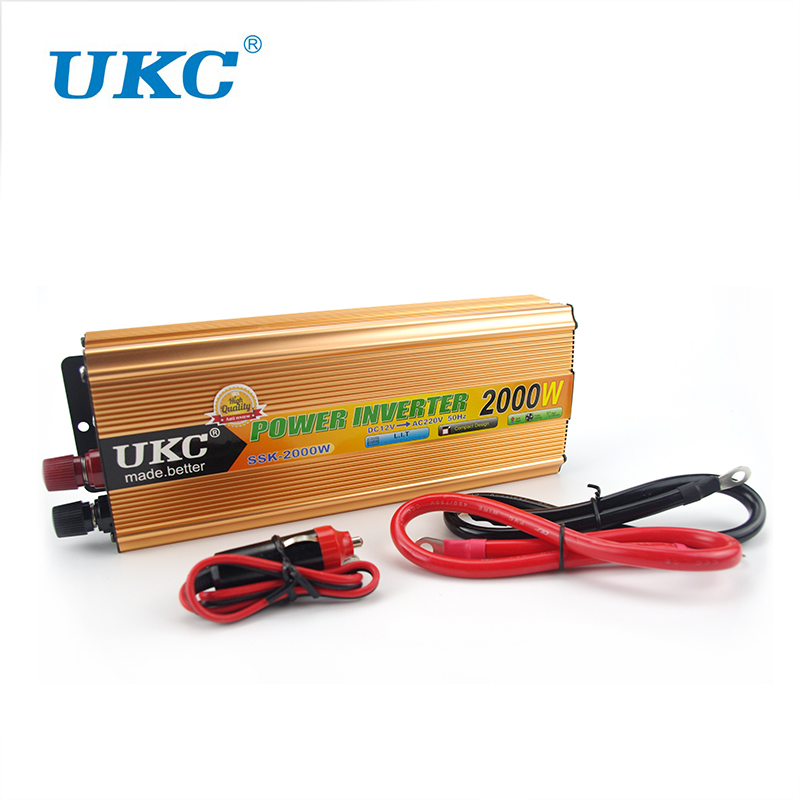 2000W Car Modified Sine Wave Power Inverter Converter Charger Car DC 12V to AC 220v Converter + USB With Car Cigarette Lighter mkm2000 242g c modified sine wave professional dc ac 2000 watt power inverter 24v to 220v electrical inverters with charger