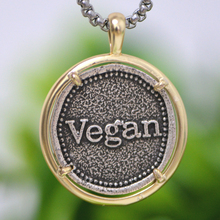 Vegan Necklace Boyfriend Gift Vegan Activist Pendant Herbivore Awareness Vegetar