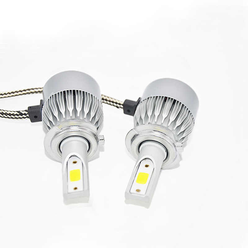 DUU Auto Car Headlight Bulbs LED H7 H4 H8 H11 HB3 9005 HB4 9006 H1 H3 9012 H13 9007 C6 Headlamp Fog Light COB Chip 12-24V 55W