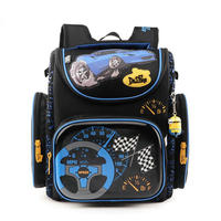 Delune Children School Bags for Boys Orthopedic Backpack Cartoon Cars planes Schoolbag Kids Satchel Mochila Infantil Grade 1 5