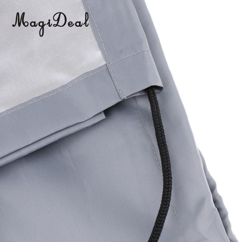Imperméable à l'eau UV soleil Protection contre la poussière bateau gonflable canot couverture tendre stockage costumes jusqu'à 7.5-17ft-7 tailles disponibles - 3