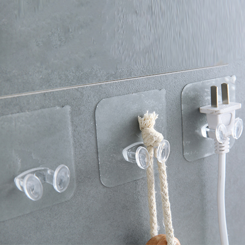 Transparent Strong Self Adhesive Door Wall Hangers Towel Handbag Hooks Plug Hook For Kitchen Bathroom Accessories