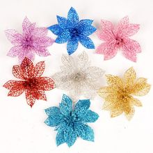 15CM 6 colors available Christmas tree decoration flower high quality Xmas artificial poinsettia