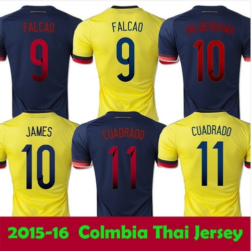 Thailand 2015 2016 Colombia soccer jersey home away FALCAO Colombia jersey  15 16 JAMES RODRIGUEZ Colombia football soccer shirt 819ed0052
