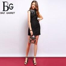 Baogarret 2019 Summer Fashion Vintage Dress Womens Gorgeous Crystal Beading Tassel Elegant Ladies Vacation Mini Dresses
