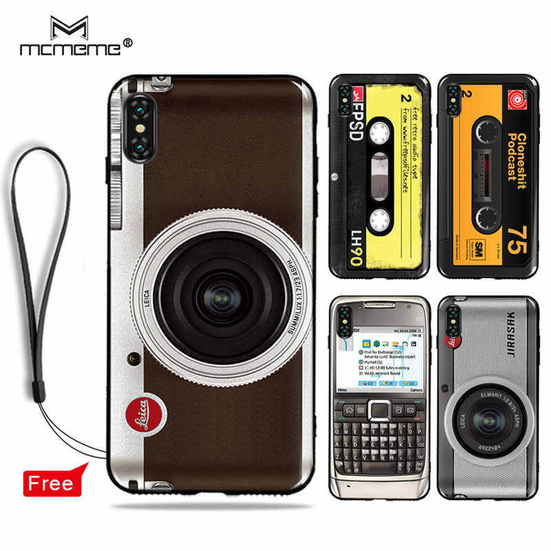 fe8f4dd1e8 Soft TPU For iphone xs max xr case cover Retro Camera Cassette Tapes  pattern phone cases For iphone xsmax xr xs case shell bag