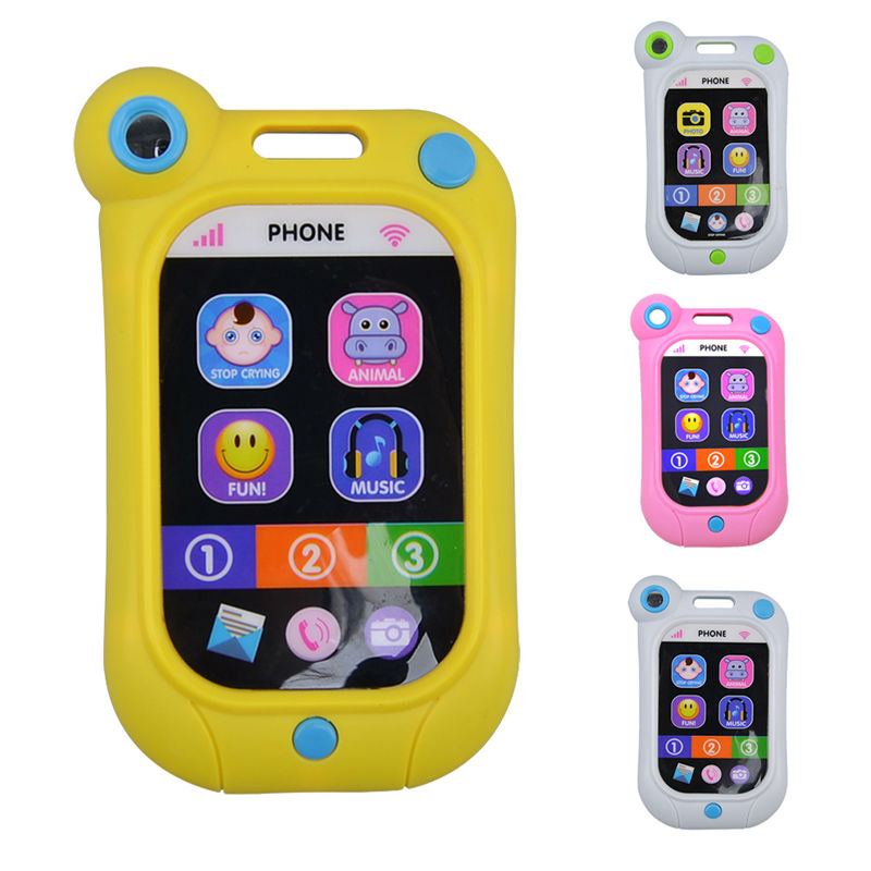 Plastic Baby Toy Phone Learning Study Musical Sound Cell Phone Songs Animal Sound Simulated Mobilephone Kids Educational Toy