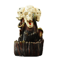 Creative Skull Backflow Incense Burners Ceramic Sticks Cones Holder Home Office Decor Waterfall of Smoke sani Aromatic Candles