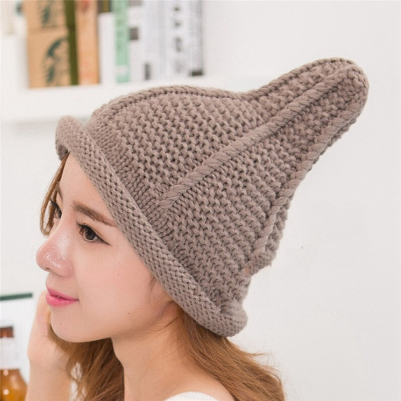 Ladies Fashion Women Warm Cute Pacifier Cap Shape Winter Plus Solid Slouchy Knit Hat Popular Hats For Women 30NV29 (2)