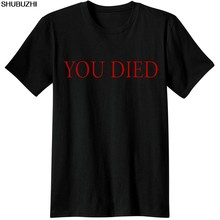 dark souls Gaming T Shirt video game Men T-Shirt souls you died Novelty funny Casual from software dark souls 3 T-Shirts sbz3271(China)