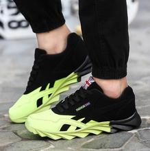 Men Fashion Shoes Casual Lace Up Mixed Color Leather Shoes Casual Superstar Trainers Basket Hombre Sport Flat Black