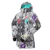 Snowboard Jacket Women Winter Ski Jacket Waterproof Reflective Snowboard Hoodie Female Snowmobile Coat Winter Sportwear