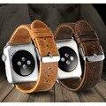 1 unid correa de la venda de pulsera correa de cuero de lujo para apple watch iwatch 38/42mm