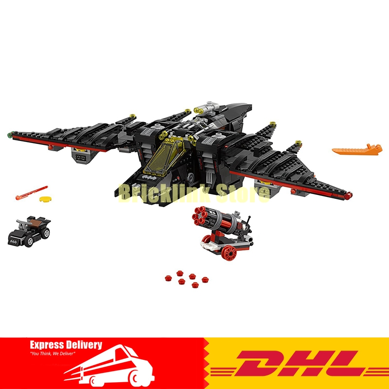 Lepin 07080 Batman Movie The Batwing building Block Set Robin Harley Quinn cannon Kids Toy Compatible with 70916
