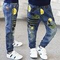 2016 Весной и осенью новые мальчики прилив дети джинсы для мальчиков высокого качества горячей продажи плюс размер свободные ребенок брюки