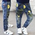 2016 Primavera y otoño nueva marea muchachos niños jeans para niños venta caliente de alta calidad más tamaño sueltan los pantalones de niño