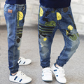 2016 Spring and autumn new boys tide children jeans for boys high-quality hot sale plus size loose child pants