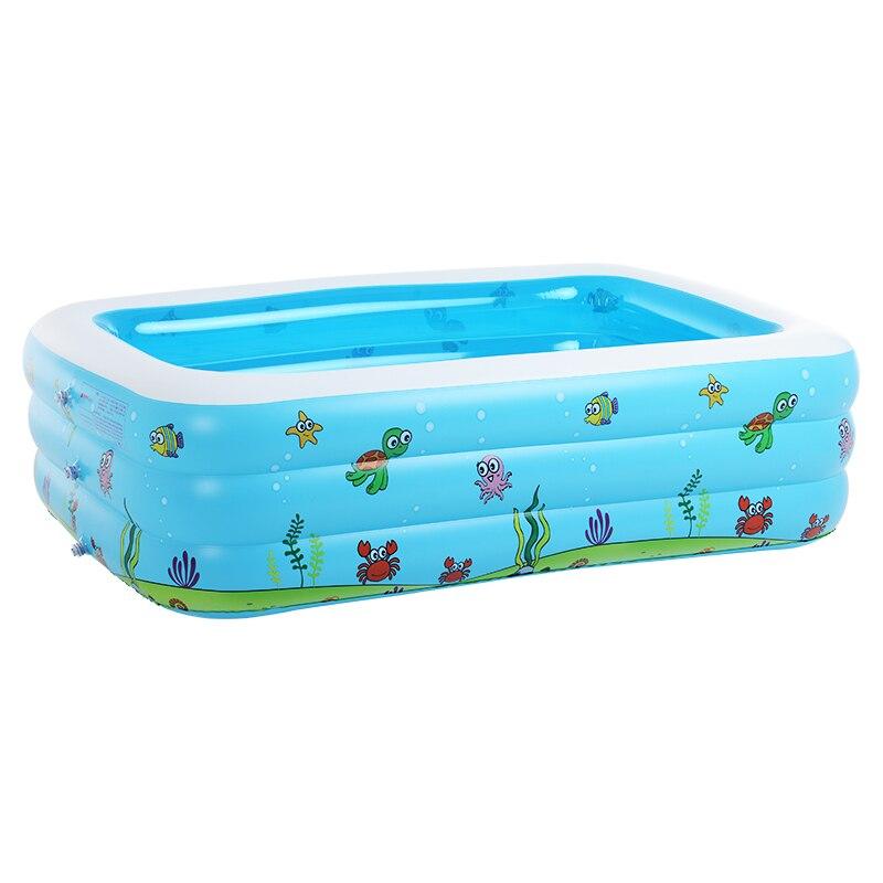 Piscine bébé gonflable bain de bain jouets été grandes 7-9 personnes piscines écologique PVC Portable - 4