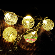 Led String lights Big Ball Lantern 10-50Leds 9 Colors Wedding KTV Bar Party Garden Holiday Decor Fairy Waterproof MH