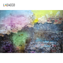 Laeacco Graffiti Brick Backdrops Wall Grunge Party Decor Baby Portrait Photographic Backgrounds Photocall Photo Studio