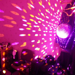 Image 4 - BEIAIDI Dia20CM 25CM 30CM Glass Mirror Balls Disco DJ Ball With Motor And RGB beam Pinspot DJ Home Party Disco DJ Stage Light