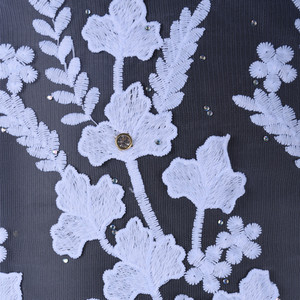 Image 2 - Newest Applique Milk Silk African Lace Fabric High Quality French Lace Fabric Nigerian Tulle Lace Fabric For Wedding Dress A1598